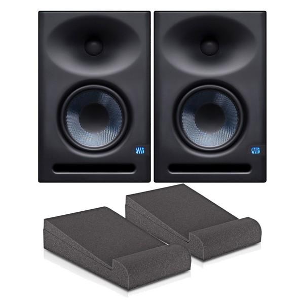 PreSonus Eris E7 XT Studio Monitors, Pair with Isolation Pads