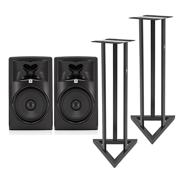 JBL 308P MKII Studio Monitors with Stands, Pair