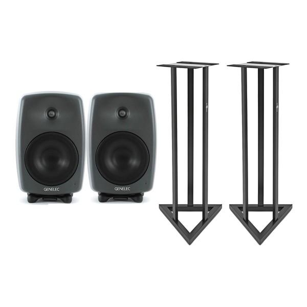 Genelec 8040BPM Active Studio Monitors with Stands (Pair)
