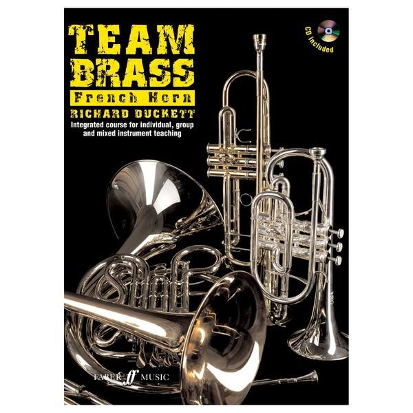 Team Brass, French Horn Tuition Book and CD