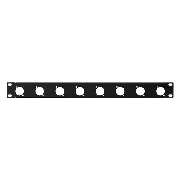 Monacor RCP-8732U 1U Rack Panel with 8 D Type XLR Holes, Front