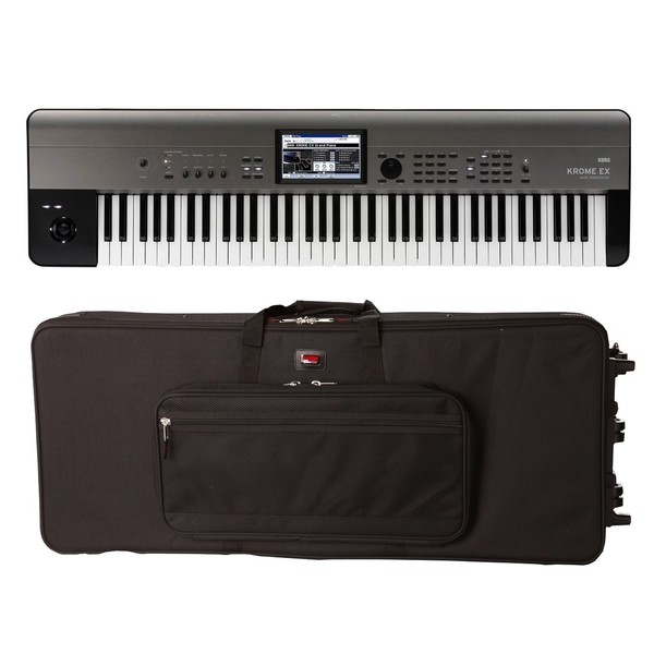 Korg Krome 73 EX with Gator GK-76 Case - Full Bundle
