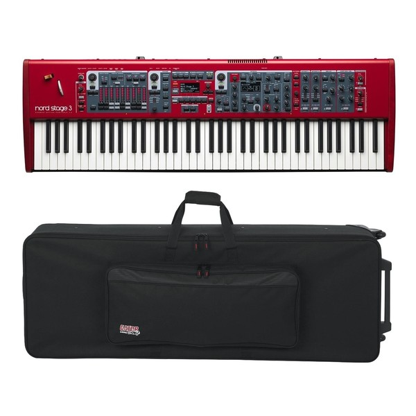 Nord Stage 3 HP76 with Gator GK-76 Case - Full Bundle