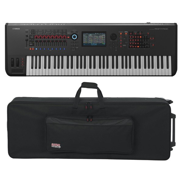 Yamaha MONTAGE 7 with Gator GK-76 Case