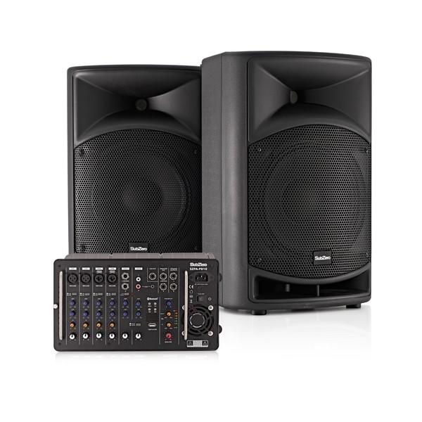 "SubZero SZPA-P810 700W 10"" Portable PA System with Bluetooth"
