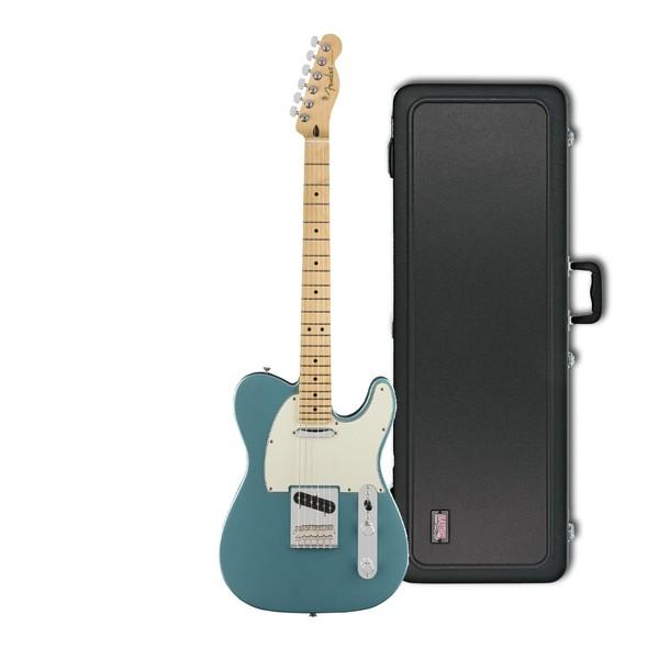 Fender Player Telecaster MN, Tidepool w/ Gator Deluxe Hardcase - main