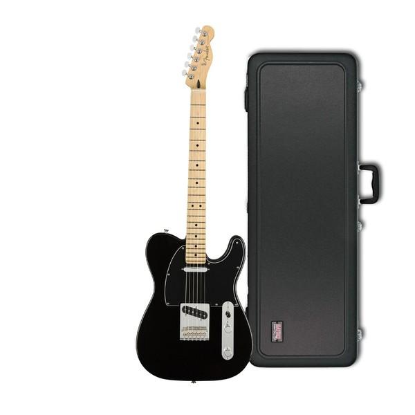 Fender Player Telecaster MN, Black w/ Gator Deluxe Hardcase - main