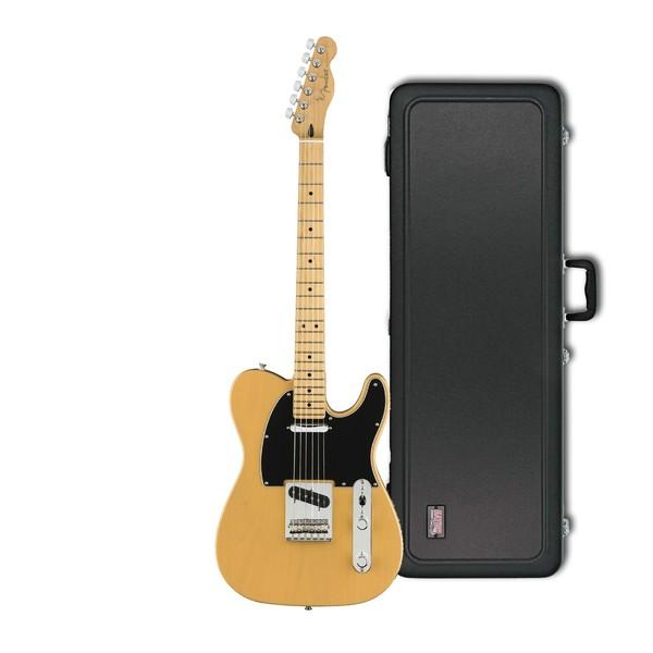 Fender Player Telecaster MN, Blonde w/ Gator Deluxe Hardcase - main