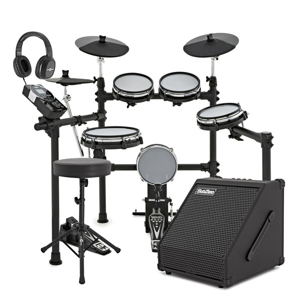 WHD 600-DX Mesh Electronic Drum Kit & 60W Amp Pack