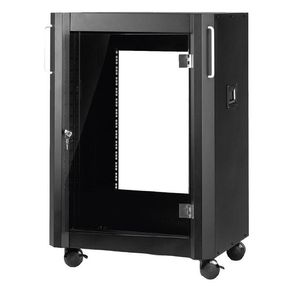 Monacor RACK-12GT/SW 12U Professional Studio Rack, Front