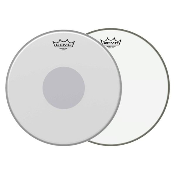 """Remo Emperor X 14"""" Snare Upgrade Pack w/14"""" Hazy Snare Side"""
