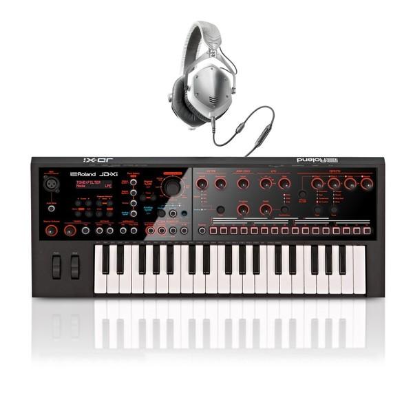 Roland JD-Xi Crossover Synthesizer with V-Moda Headphones - Full Bundle