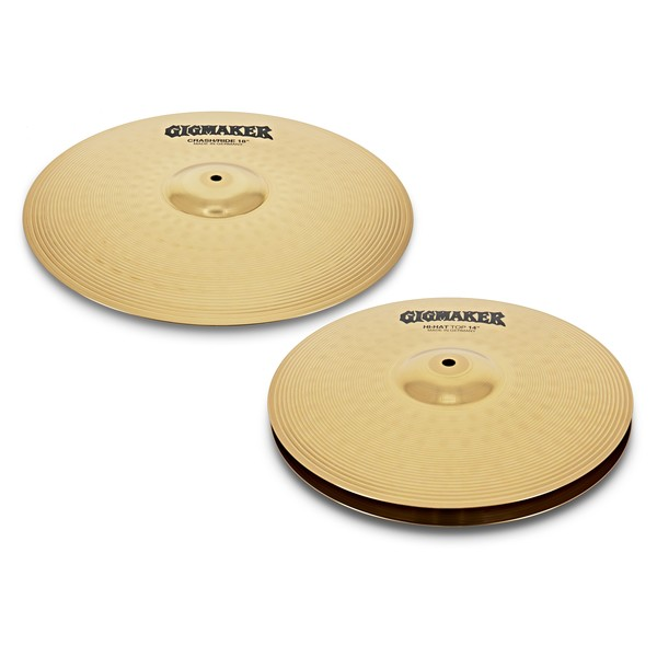 Paiste GigMaker Hi Hat and Crash Ride Cymbal Pack