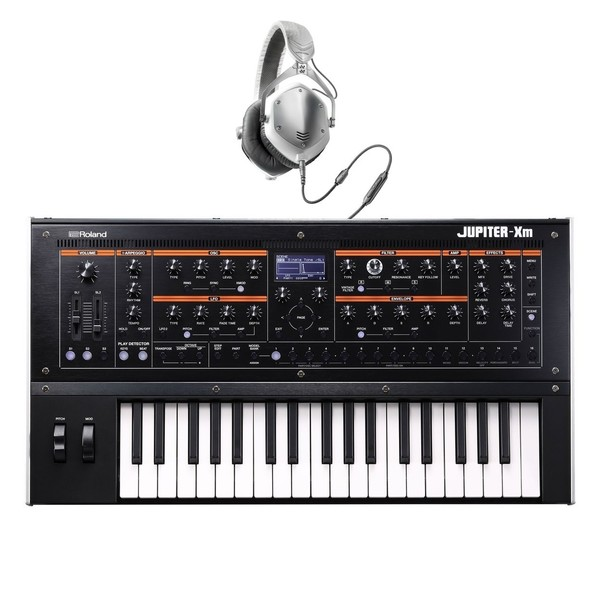 Roland Jupiter-Xm 37 Key Synthesizer with V-Moda M-100 Headphones - Full Bundle