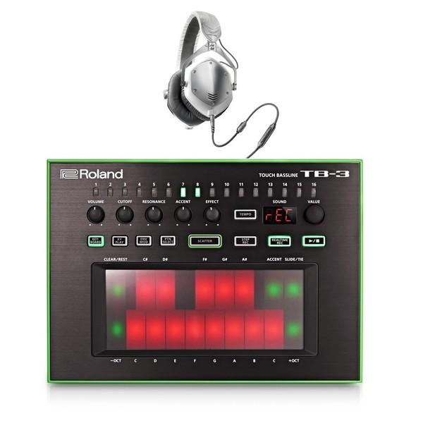 Roland AIRA TB-3 Touch Bassline with V-Moda M-100 Headphones - Full Bundle