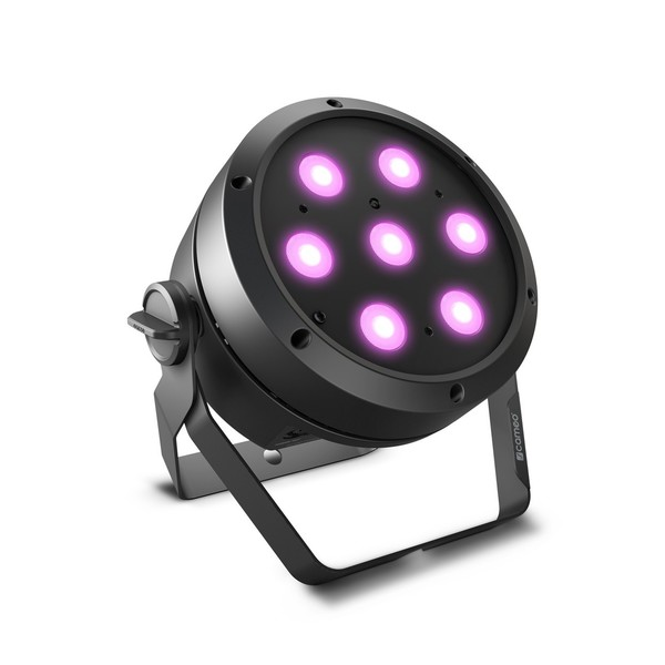 Cameo ROOT PAR 4 7 x 4 W RGBW LED PAR, Front Angled Right