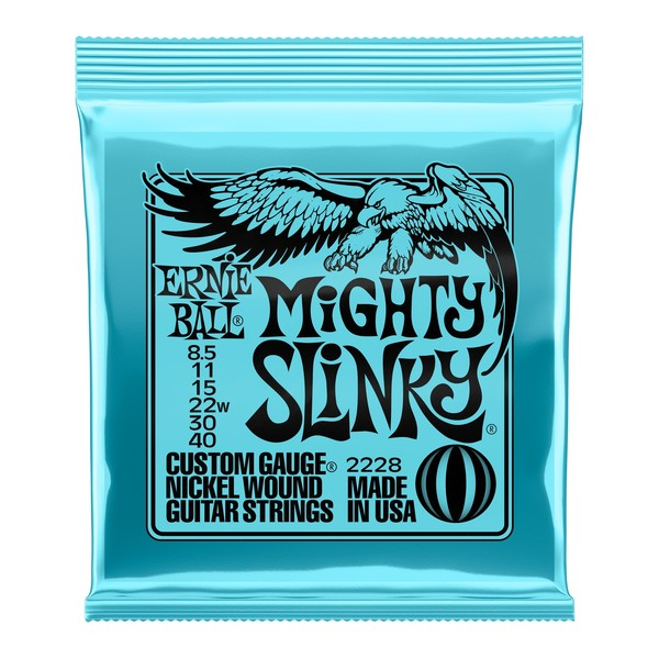Ernie Ball Mighty Slinky Guitar Strings, 8.5-40 - front