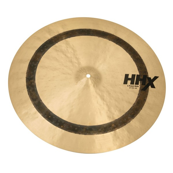 Sabian HHX 21'' 3-Point Ride Cymbal, Natural Finish