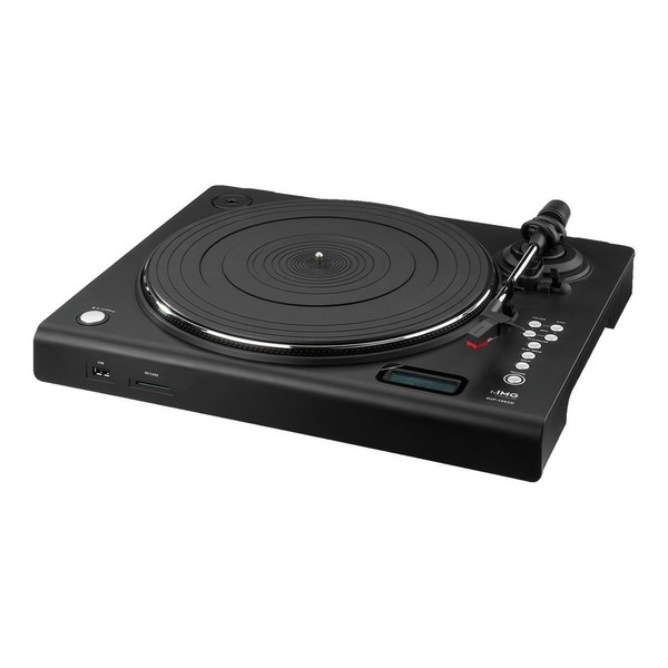 IMG Stageline DJP-106SD Stereo Hi-Fi Turntable, Full Angled View