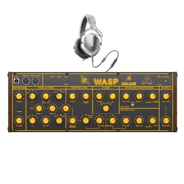 Behringer WASP Deluxe Analog Synthesizer with V-Moda M-100 Headphones - Full Bundle