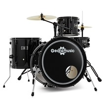 BDK-1 Compact Drum Kit by Gear4music, Black