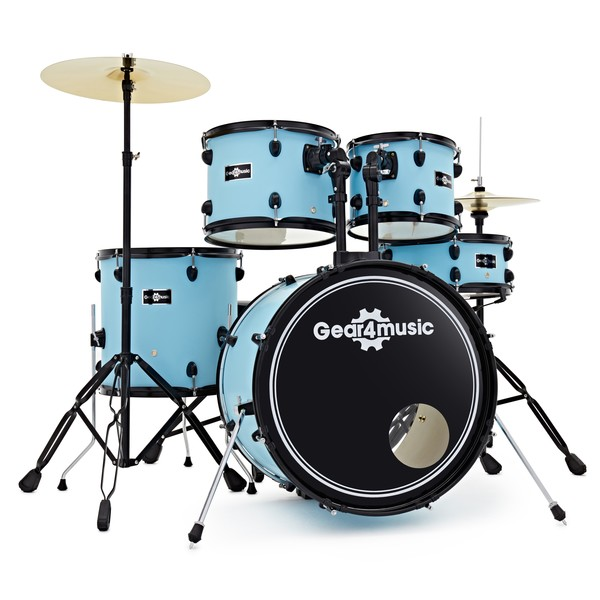 BDK-1 Fusion Drum Kit by Gear4music, Pastel Blue