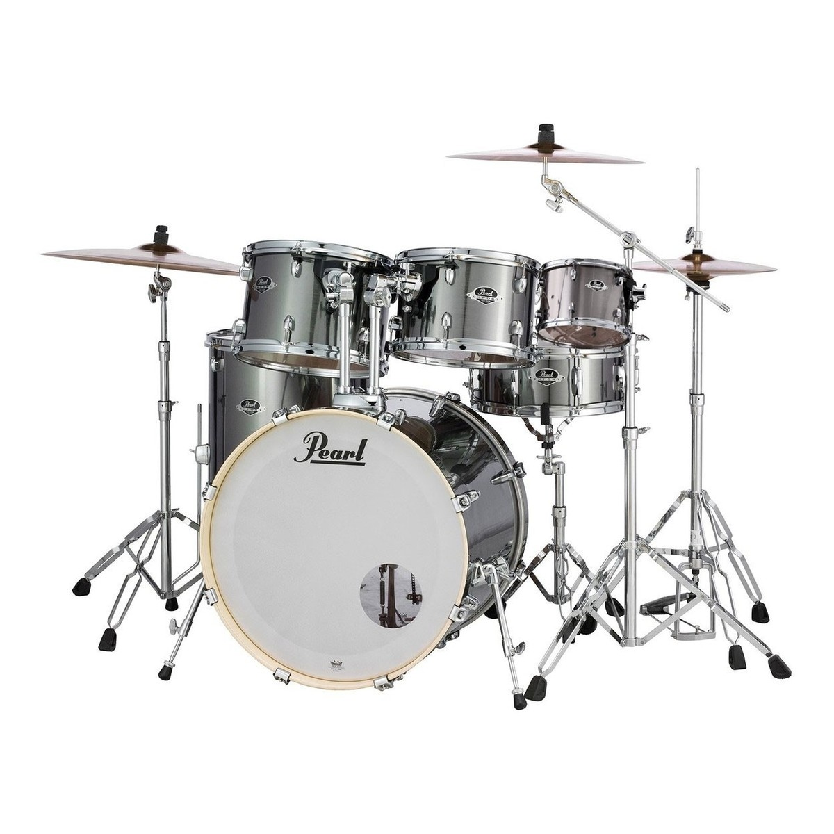 Click to view product details and reviews for Pearl Export Exx 22 6pc Drum Kit Smokey Chrome.