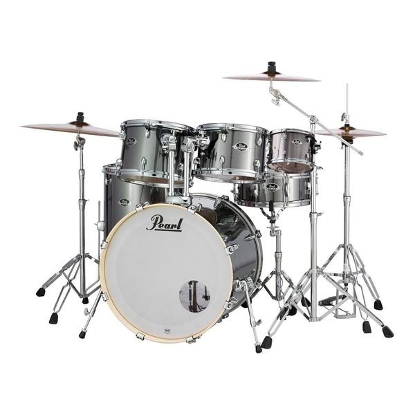 Pearl Export EXX 22'' 6pc Drum Kit, Smokey Chrome