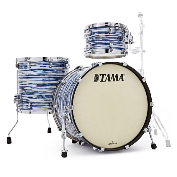 "Tama Starclassic Maple 22"" 3pc, Blue & White Oyster"
