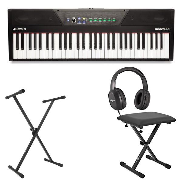 Alesis Recital 61 Digital Piano Package