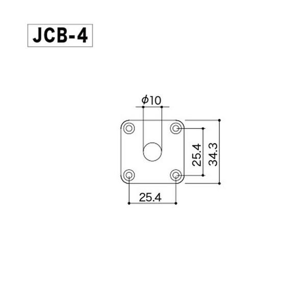 Gotoh Jack Plate JCB4 Chrome