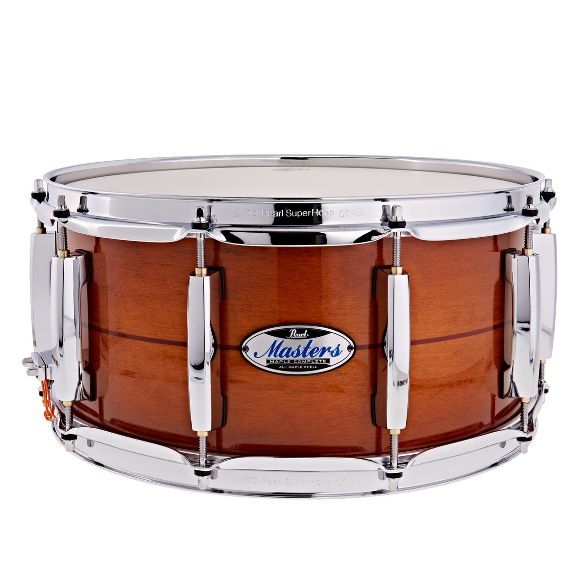 Click to view product details and reviews for Pearl Masters Maple Complete 14 X 65 Snare Drum Almond Red Stripe.