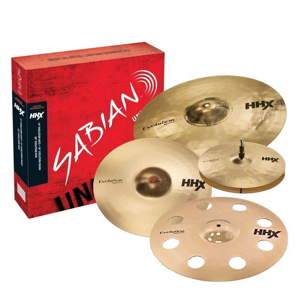 "Sabian HHX Evolution Promo Set with Free 18"" O-Zone, Brilliant Finish"
