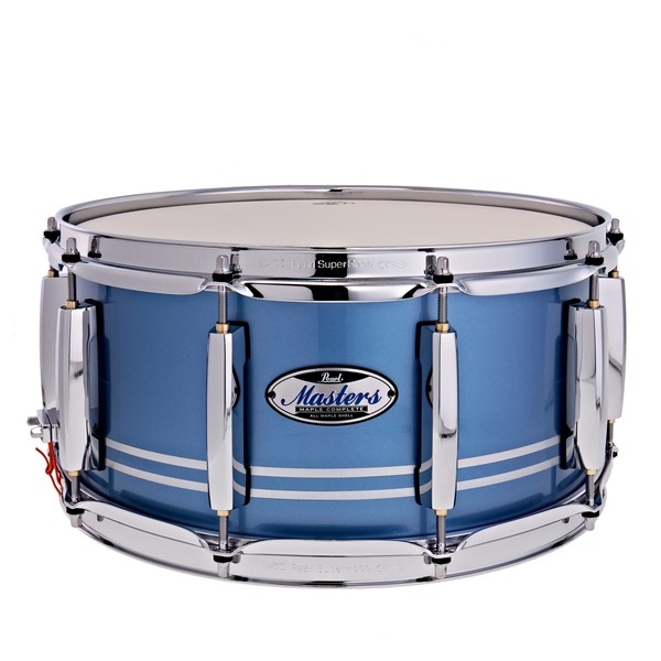 """Pearl Masters Maple Complete 14 x 6.5"""" Snare Drum, Chrome Contrail"""
