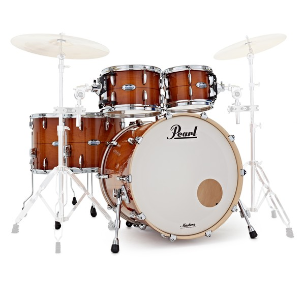 Pearl Masters MCT 22'' 5pc Shell Pack, Almond Red Stripe