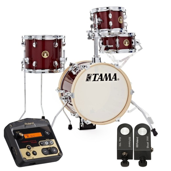 "Tama Club-Jam 14"" Flyer Hybrid Shell Pack, Candy Apple Mist"
