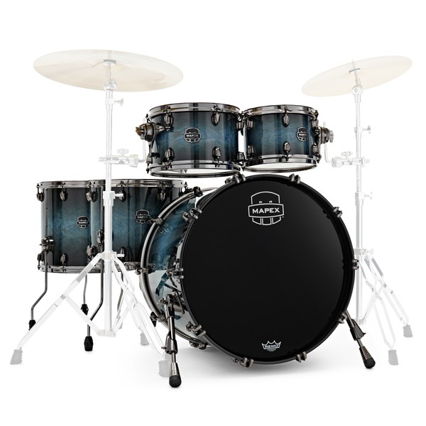 Mapex Saturn V Exotic 22'' Sound Wave Twin Shells, Deep Water Maple