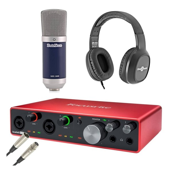 Focusrite Scarlett 8i6 Recording Bundle