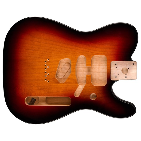 Fender Deluxe Alder Tele Body, 3-Tone Sunburst - main