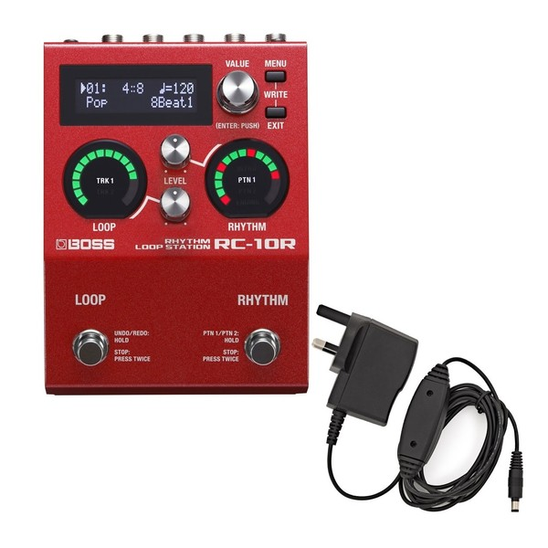 Boss RC-10R Looper with Power Supply - main