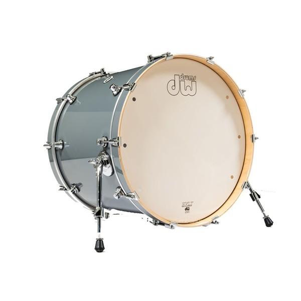 DW Drums Design Series 22 x 18'' Bass Drum, Grey Steel