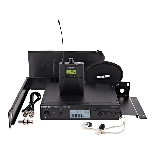 Shure PSM300-K3E Premium Wireless Monitor System with SE215
