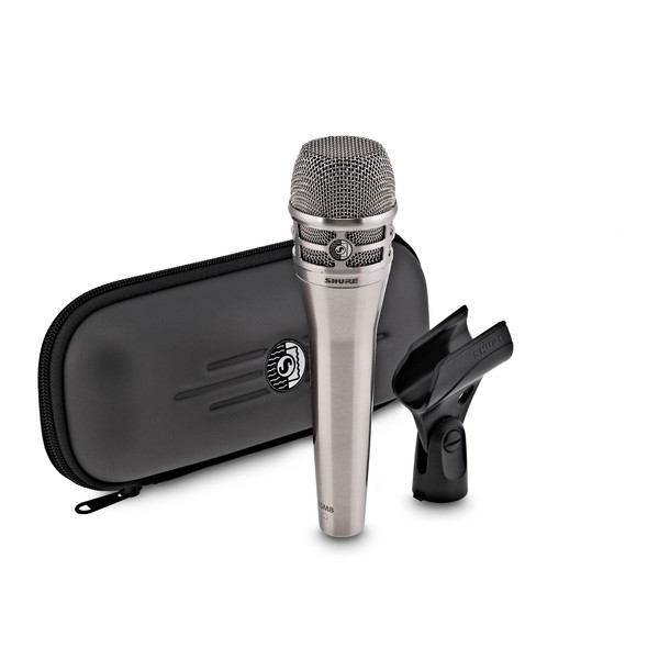 Shure KSM8 Dual Diaphragm Dynamic Microphone, Nickel - Full Package Front