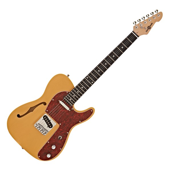 Knoxville Semi-Hollow Electric Guitar by Gear4music, Ivory