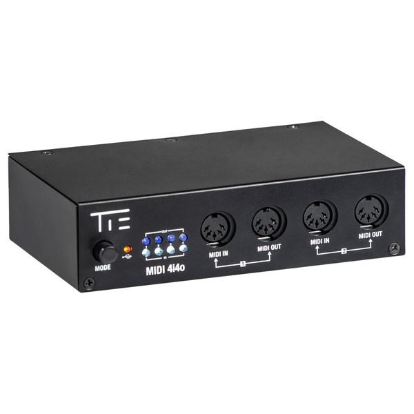 Tie Studio MIDI 4i4o-e Interface - Angled