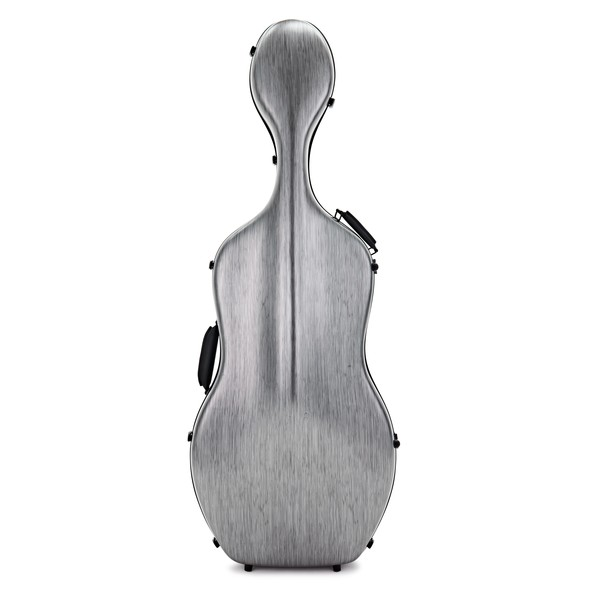 Hidersine Polycarbonate Cello Case, Brushed Silver