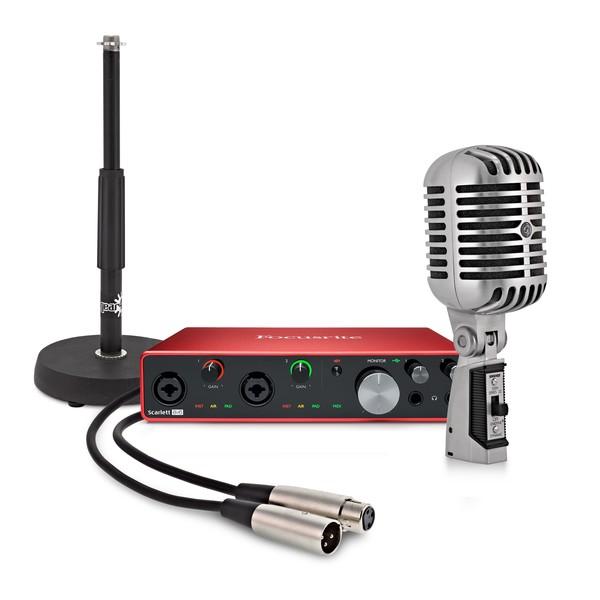 Focusrite Scarlett 8i6 Podcasting Bundle with Shure 55SH Mic