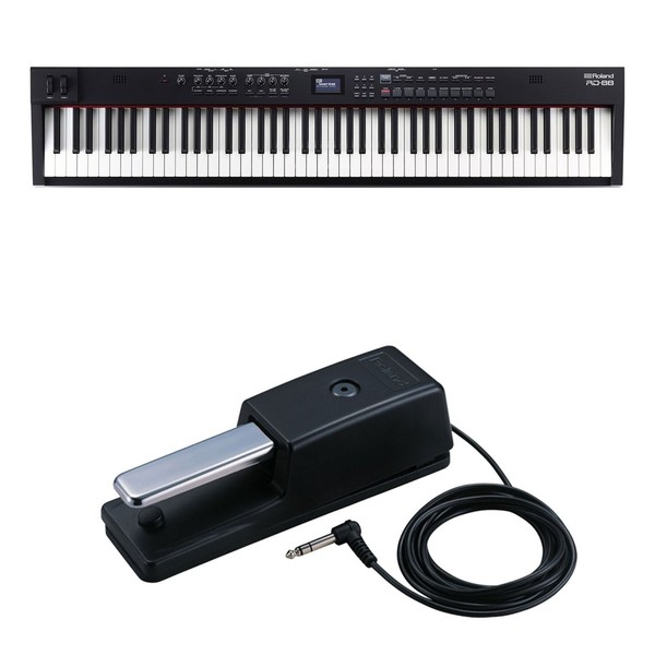 Roland RD-88 Compact 88-Key Stage Piano with DP-10 Pedal