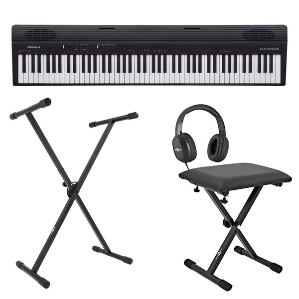 Roland Go:Piano 88 Key Digital Piano with Stand, Stool and Headphones