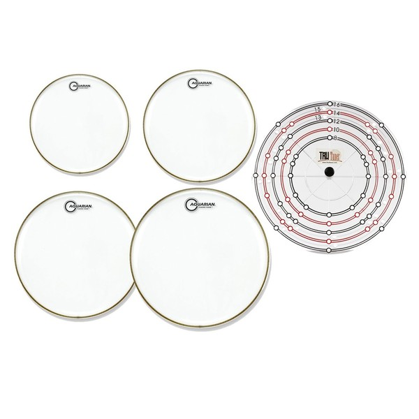 Aquarian Classic Clear Drumhead Pack w/Free Rapid Replacement System
